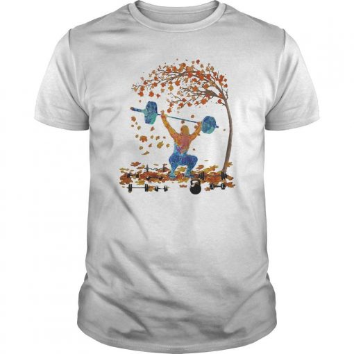 Weightlifting Maple Leaves Tree Shirt