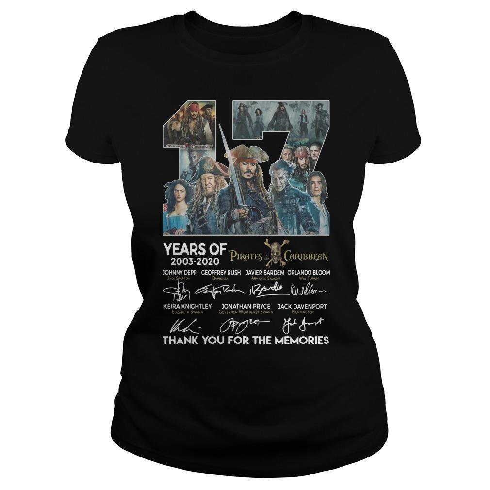 17 Years Of Pirates Caribbean Thank You For The Memories Longsleeve