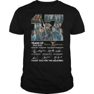 17 Years Of Pirates Caribbean Thank You For The Memories Shirt
