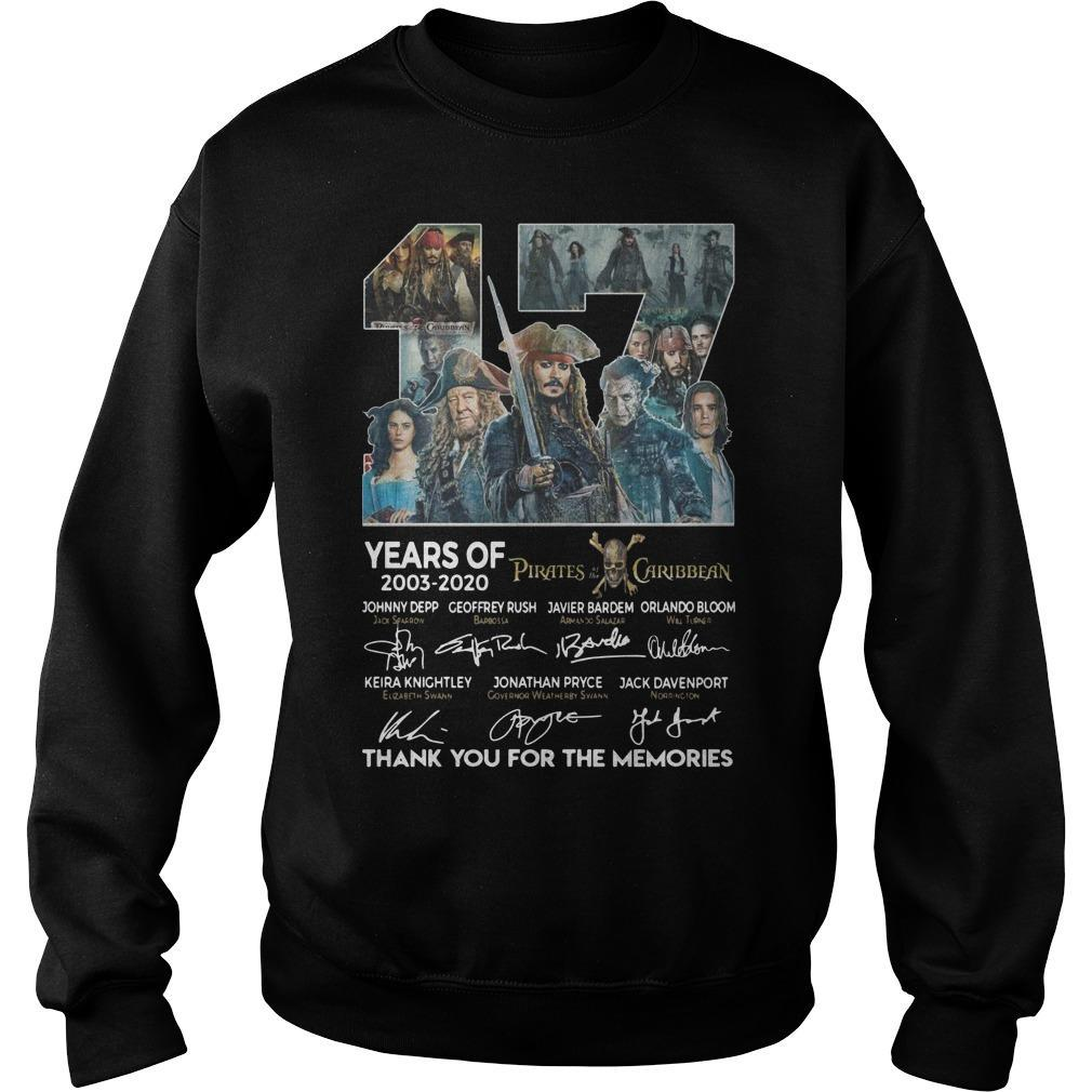 17 Years Of Pirates Caribbean Thank You For The Memories Sweater