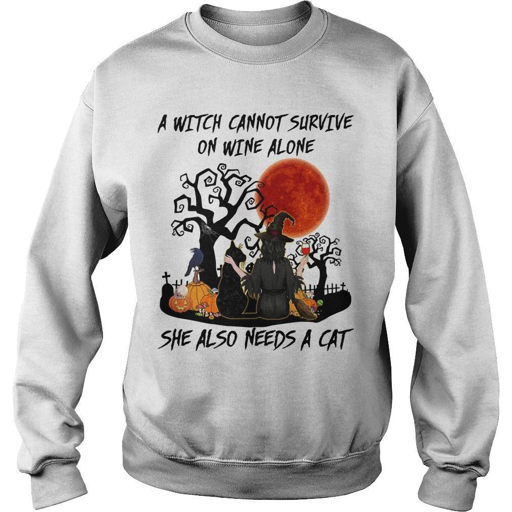 A Witch Cannot Survive On Wine Alone She Also Needs A Cat Sweater