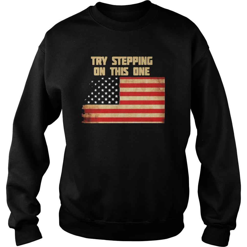 American Flag Try Stepping On This One Sweater