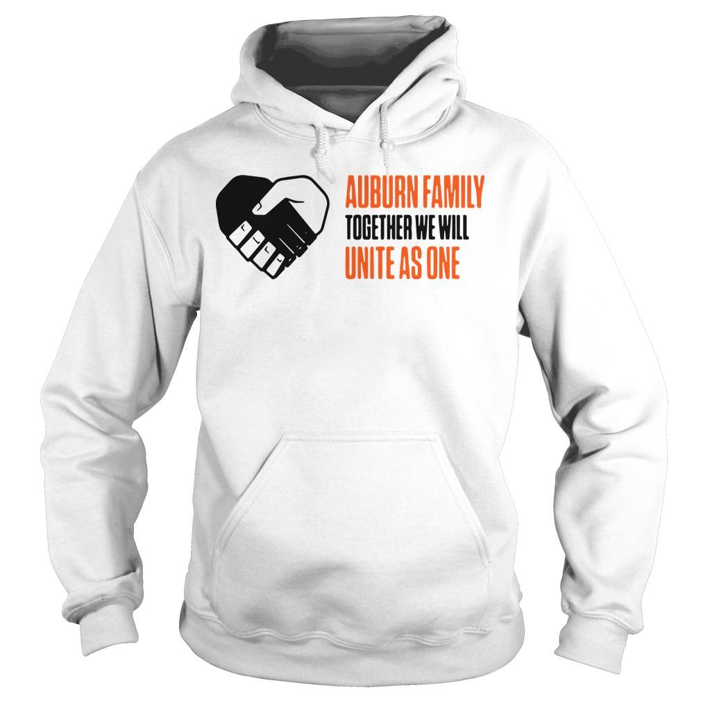 Auburn Family Together We Will Unite As One Hoodie