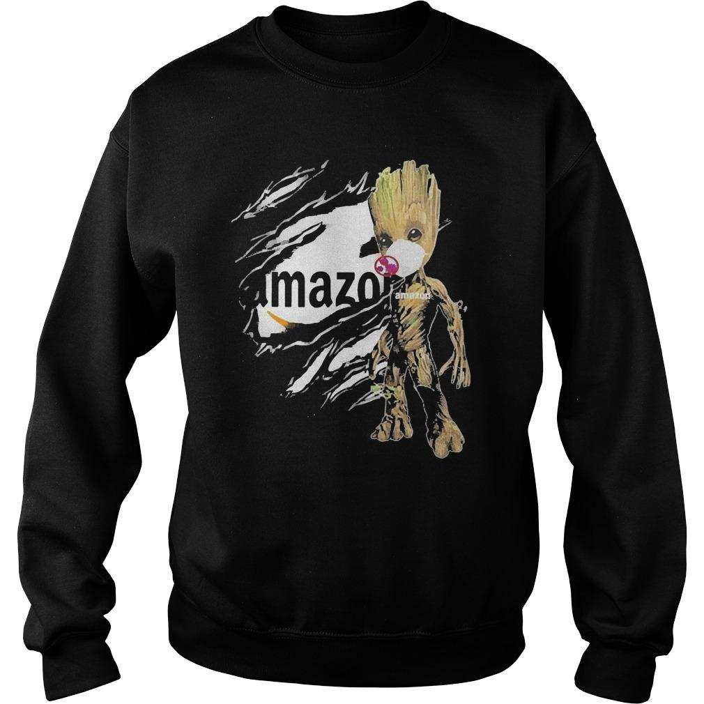 Baby Groot Face Mask Blood Inside Me Amazon Sweater