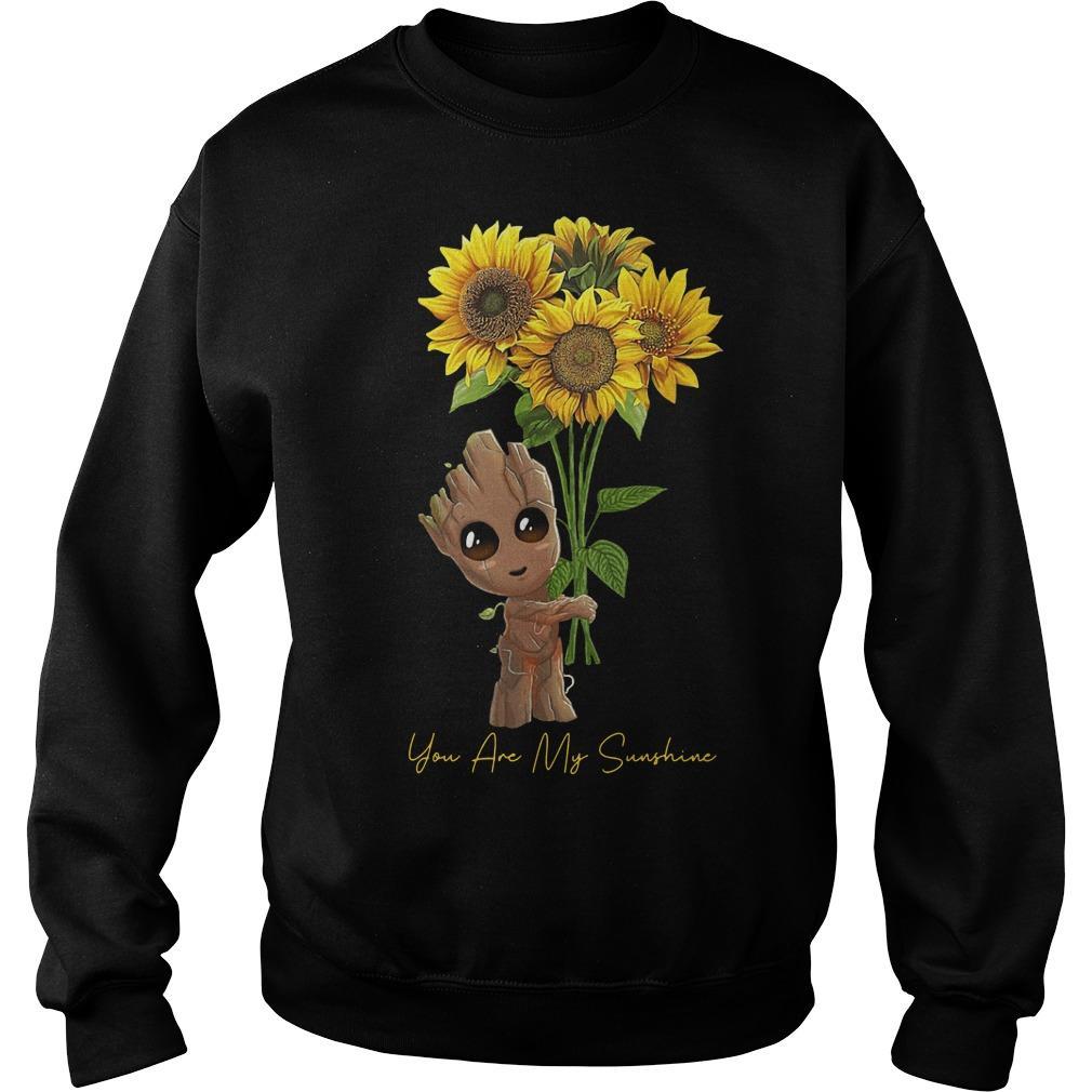 Baby Groot Hugging Sunflower You Are My Sunshine Sweater
