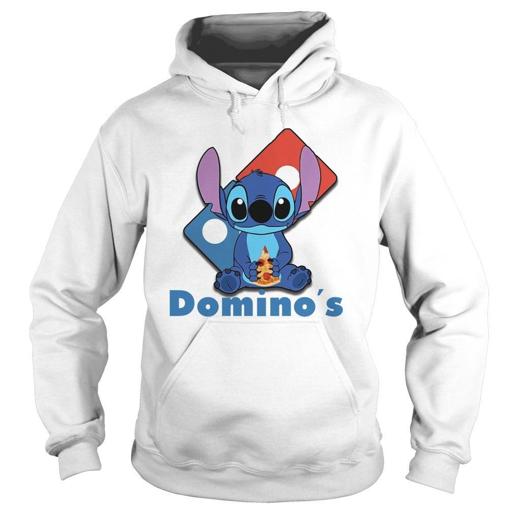 Baby Stitch Hugging Domino's Hoodie