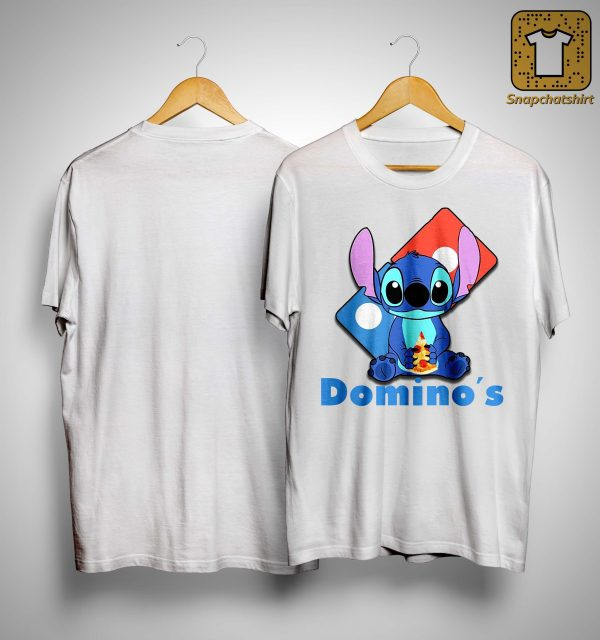Baby Stitch Hugging Domino's Shirt