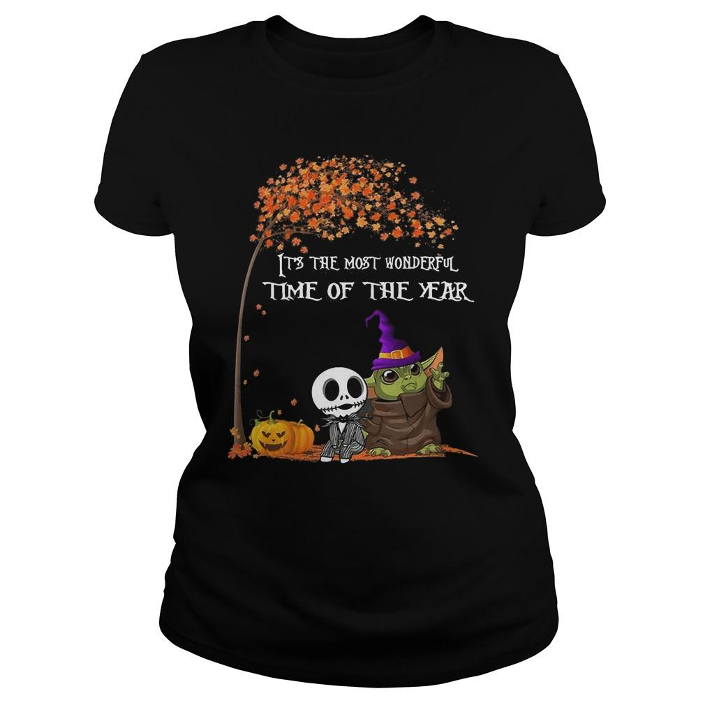 Baby Yoda Jack Skellington It's The Most Wonderful Time Of The Year Longsleeve