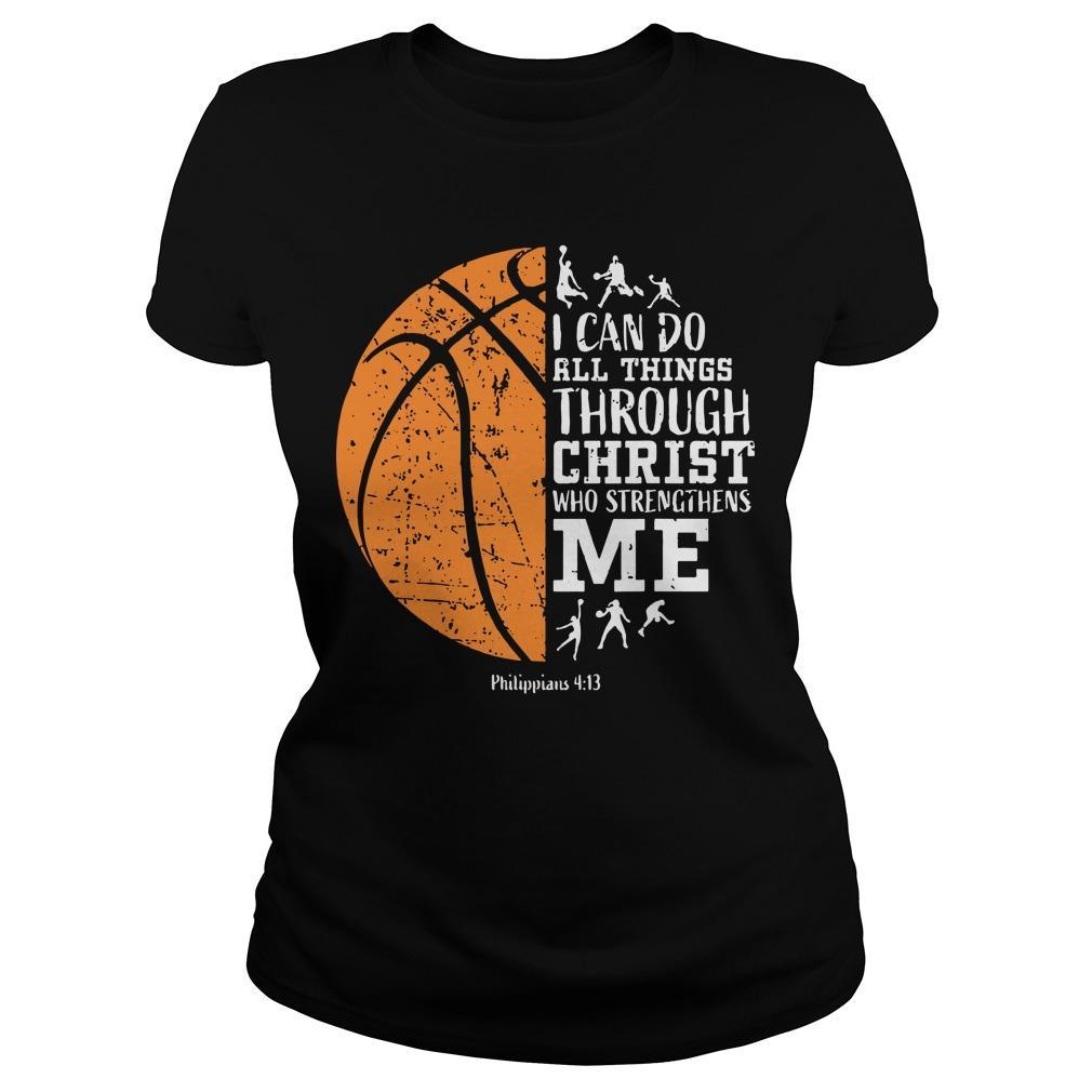 Basketball I Can Do All Things Through Christ Who Strengthens Me Longsleeve