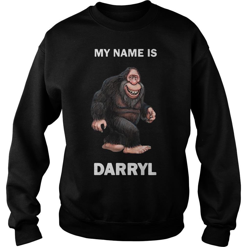 Bigfoot My Name Is Darryl Sweater