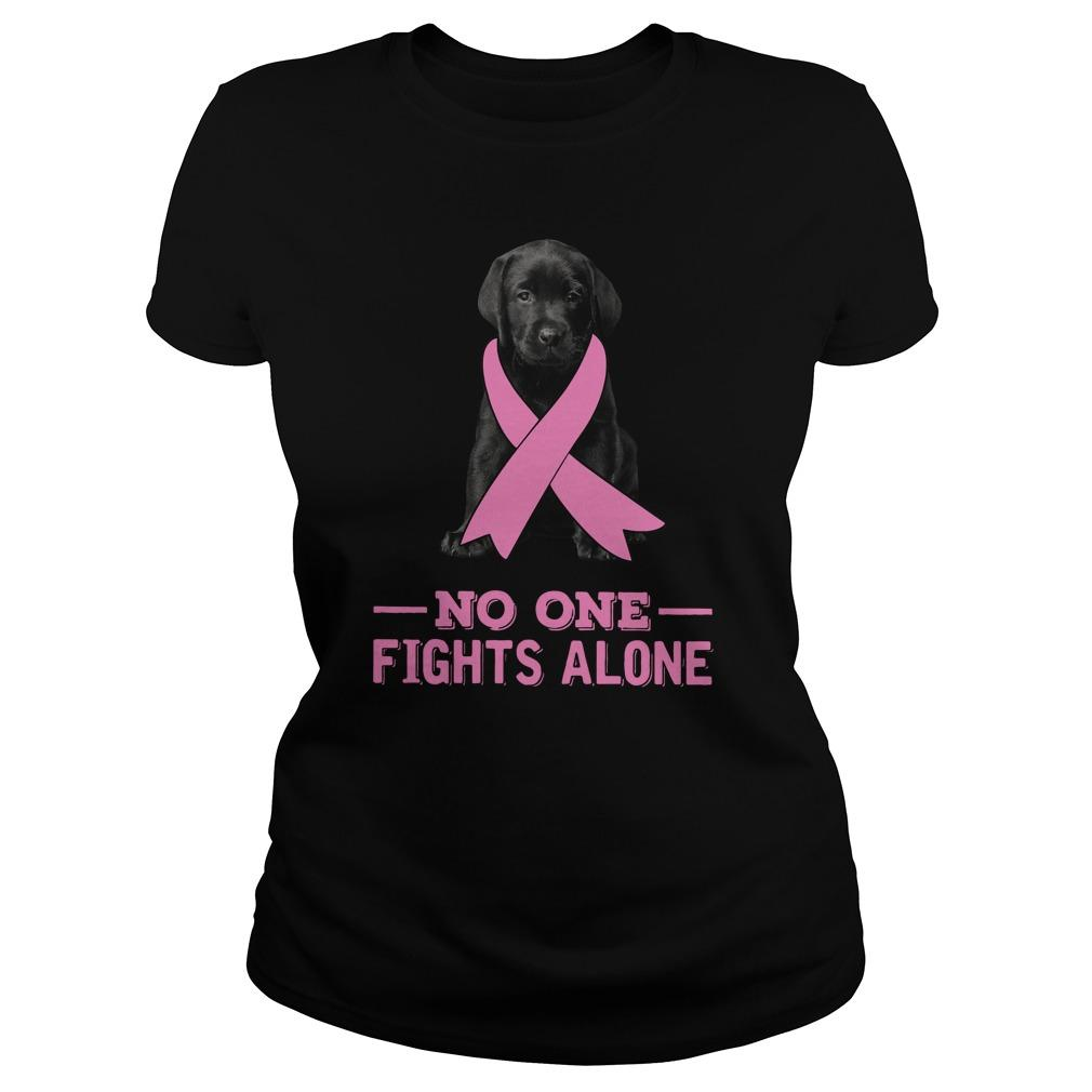 Black Labrador No One Fights Alone Longsleeve