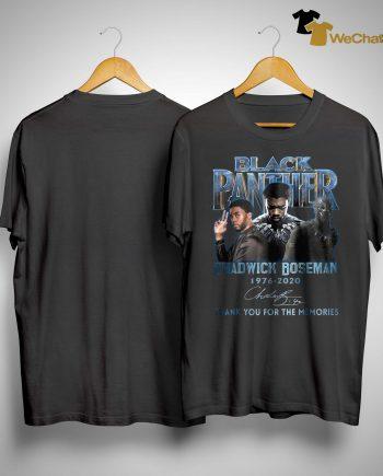 Black Panther Chadwick Boseman Thank You For The Memories Shirt