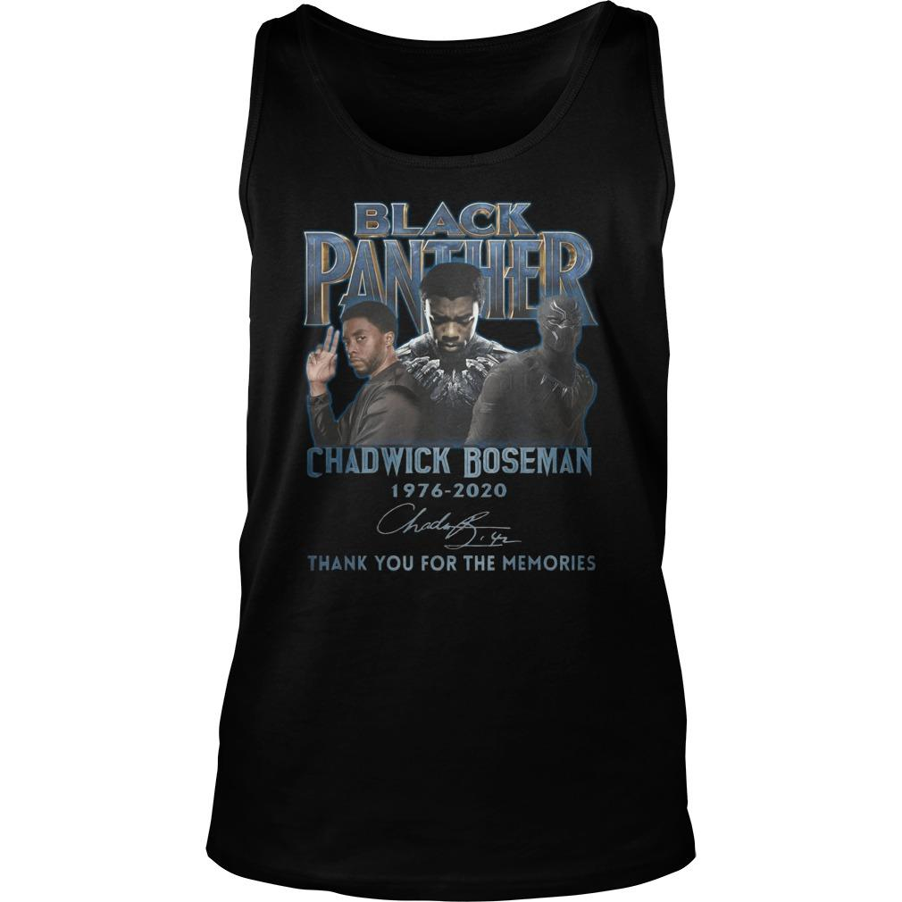 Black Panther Chadwick Boseman Thank You For The Memories Tank Top