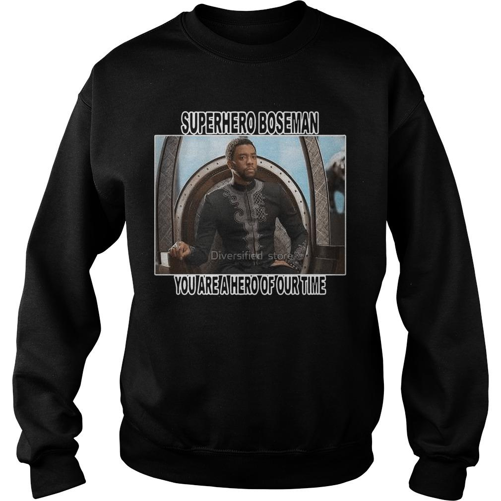 Black Panther Superhero Boseman You Are A Hero Of Our Time Sweater