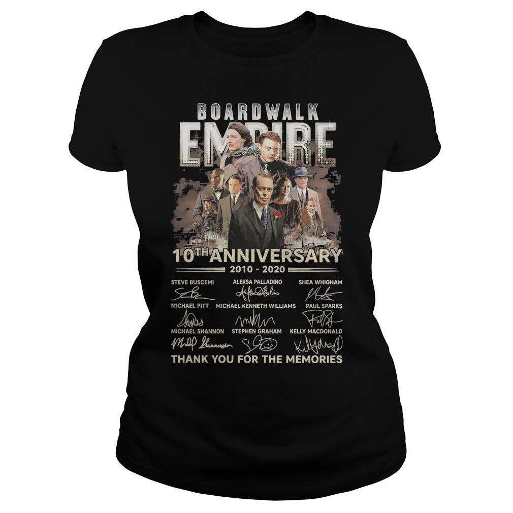 Boardwalk Empire 10th Anniversary Thank You For The Memories Signatures Longsleeve