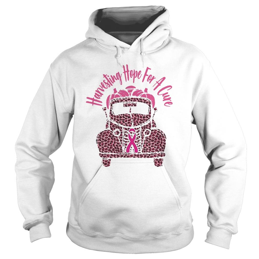 Breast Cancer Awareness Harvesting Hope For A Cure Hoodie