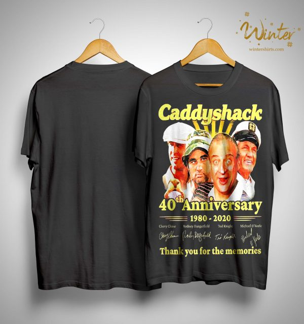 Caddyshack 40th Anniversary 1980 2020 Thank You For The Memories Shirt
