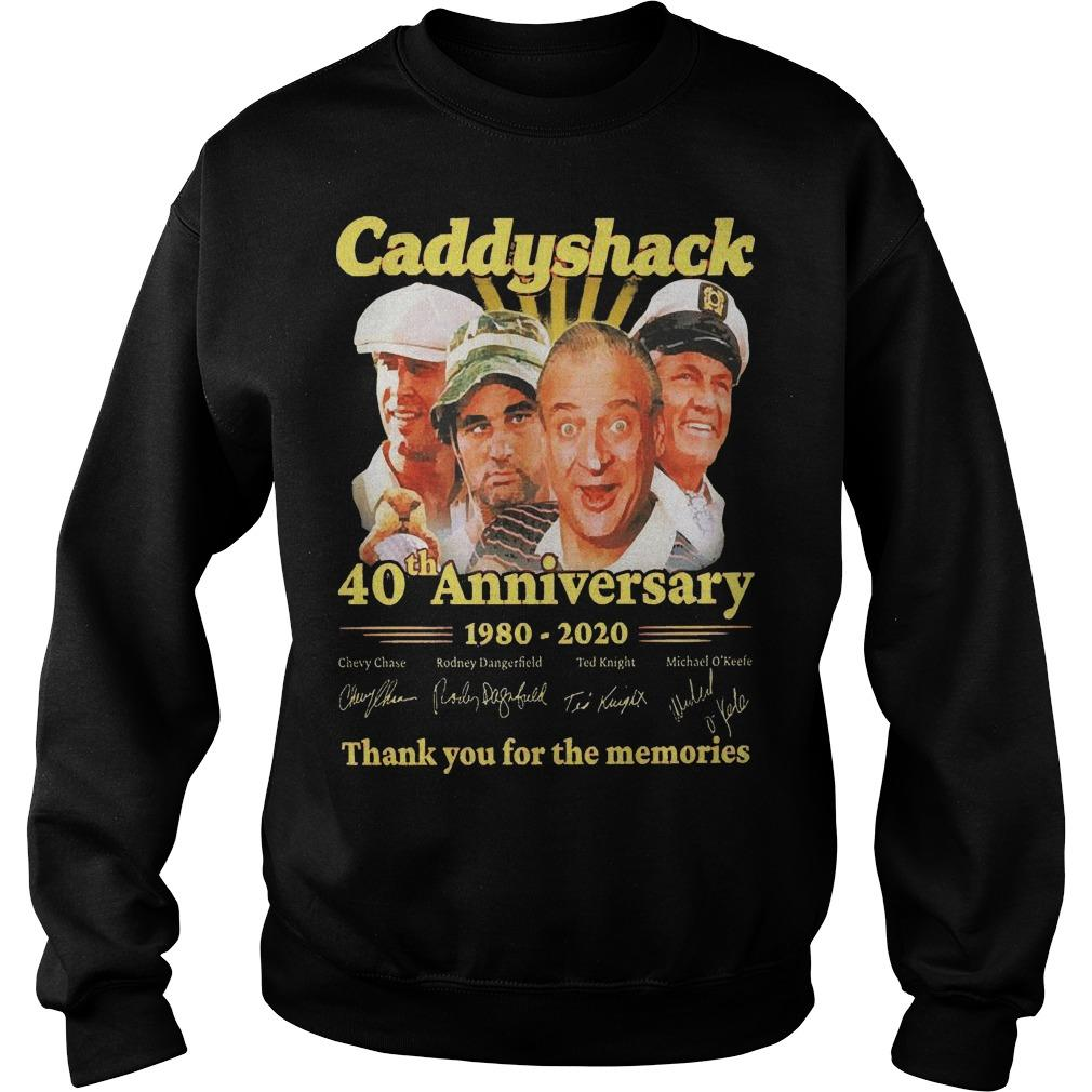 Caddyshack 40th Anniversary 1980 2020 Thank You For The Memories Sweater