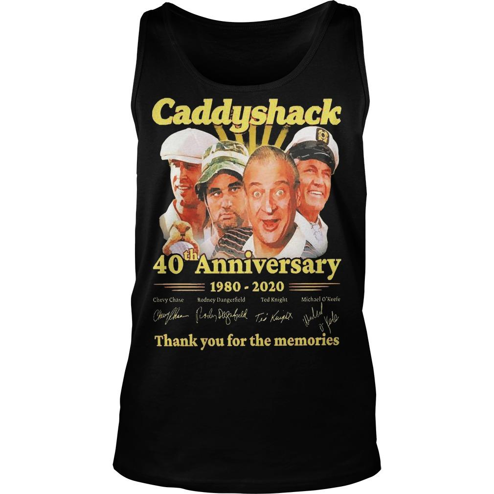 Caddyshack 40th Anniversary 1980 2020 Thank You For The Memories Tank Top