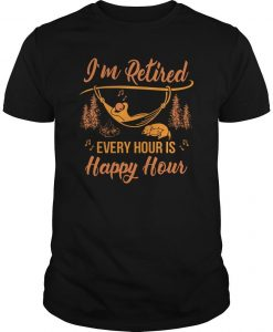 Campfire I'm Retired Every Hour Is Happy Hour Shirt