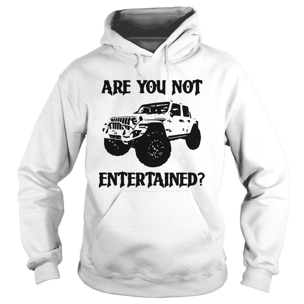 Car Are You Not Entertained Hoodie