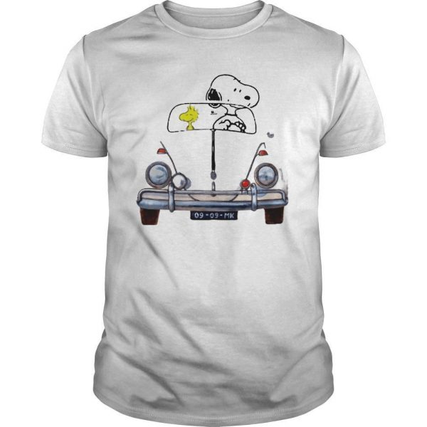 Car Snoopy And Woodstock Car 176 Vw Beetle 9 9 Mk Shirt