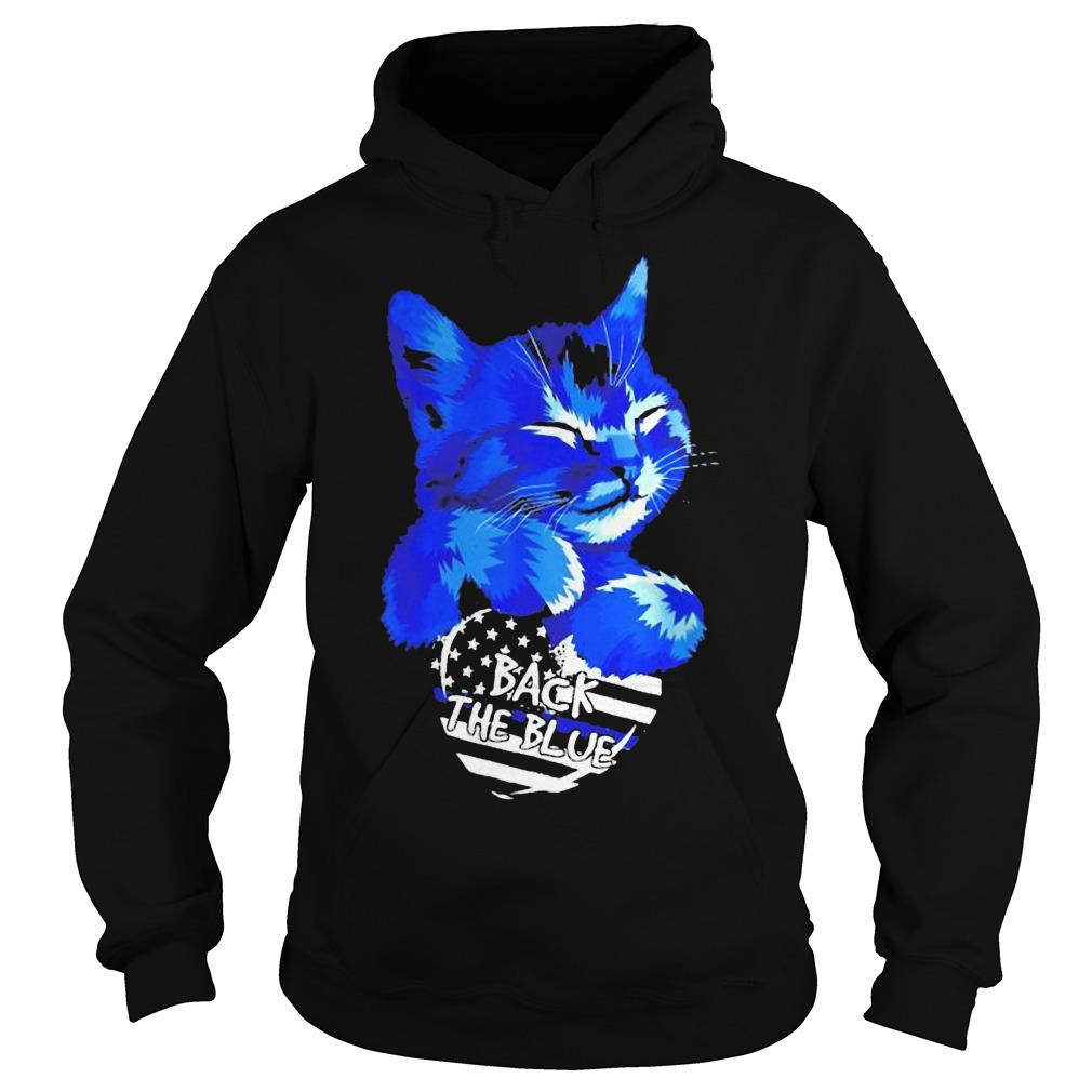 Cat Back The Blue Hoodie