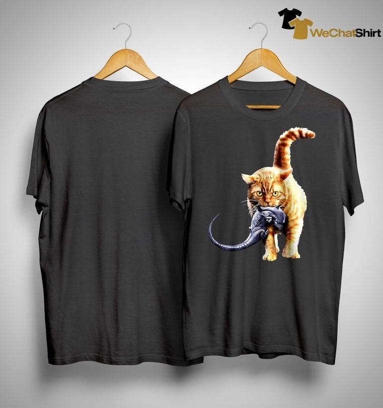 Cat Catching Aliens Shirt
