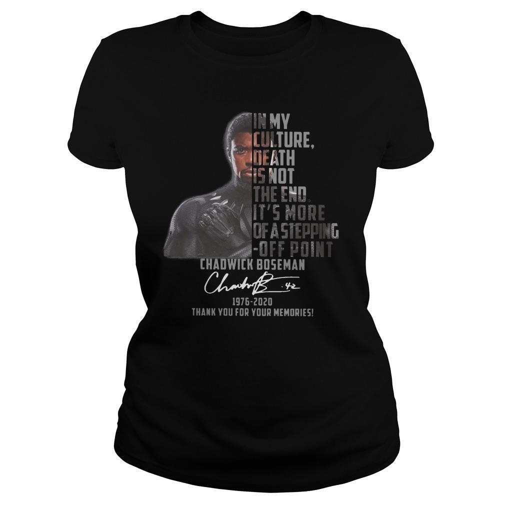 Chadwick Boseman In My Culture Death Is Not The End Longsleeve