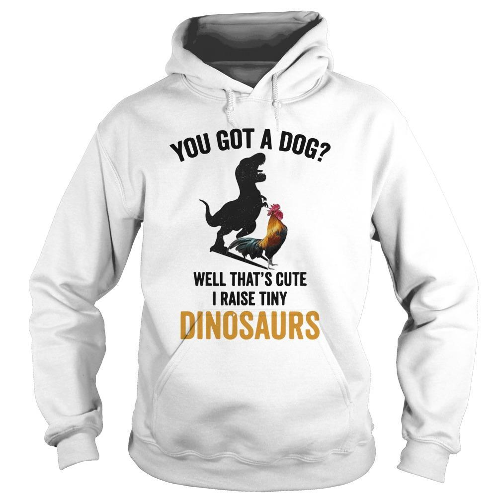 Chicken You Got A Dog Well That's Cute I Raise Tiny Dinosaurs Hoodie