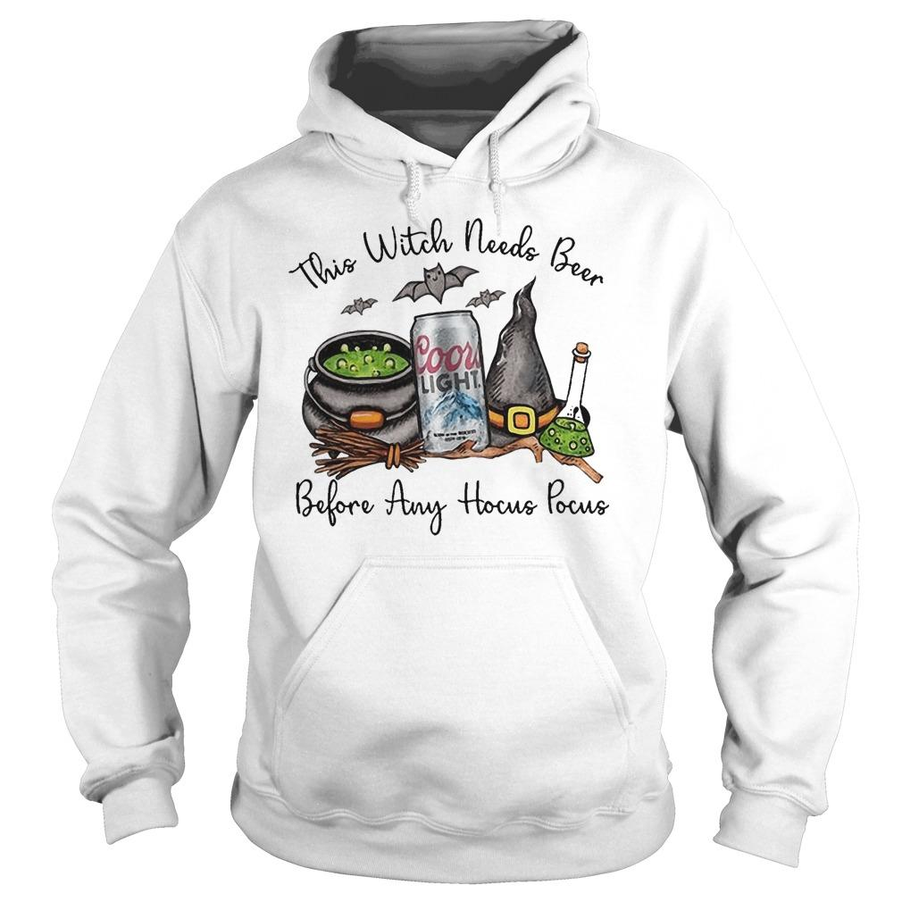 Coors Light This Witch Needs Beer Before Any Hocus Pocus Hoodie