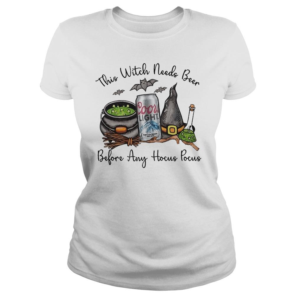 Coors Light This Witch Needs Beer Before Any Hocus Pocus Longsleeve