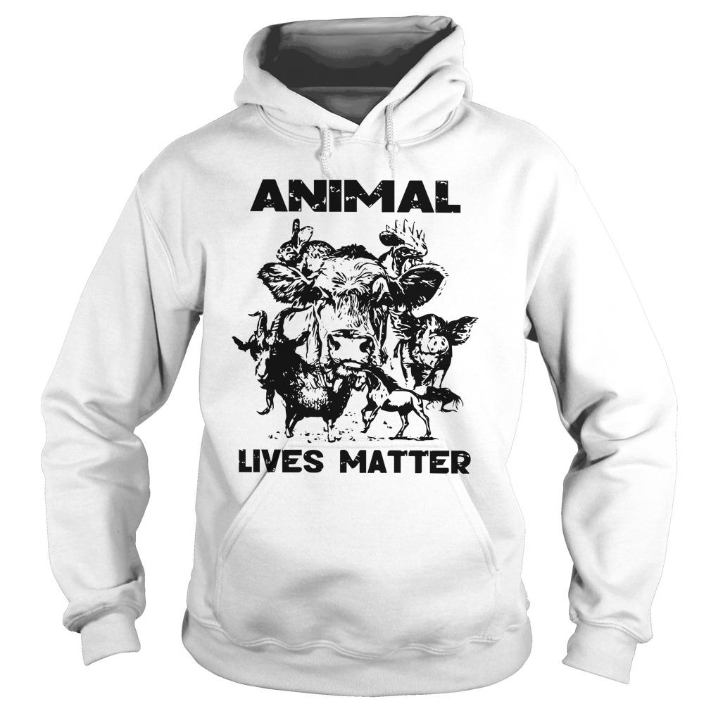 Cow Goat Horse Animal Lives Matter Hoodie