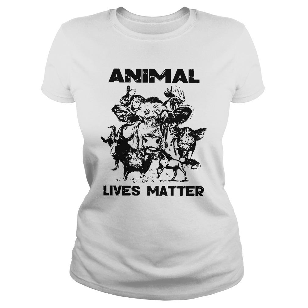 Cow Goat Horse Animal Lives Matter Longsleeve