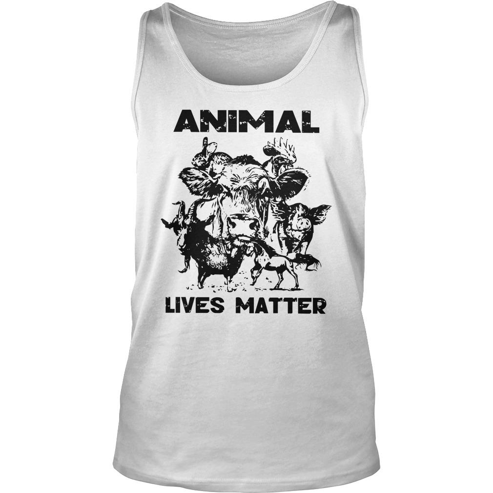 Cow Goat Horse Animal Lives Matter Tank Top