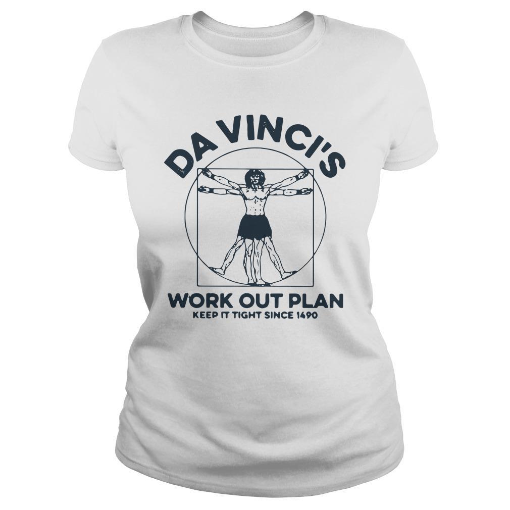 Da Vinci's Work Out Plan Keep It Fight Since 1490 Longsleeve