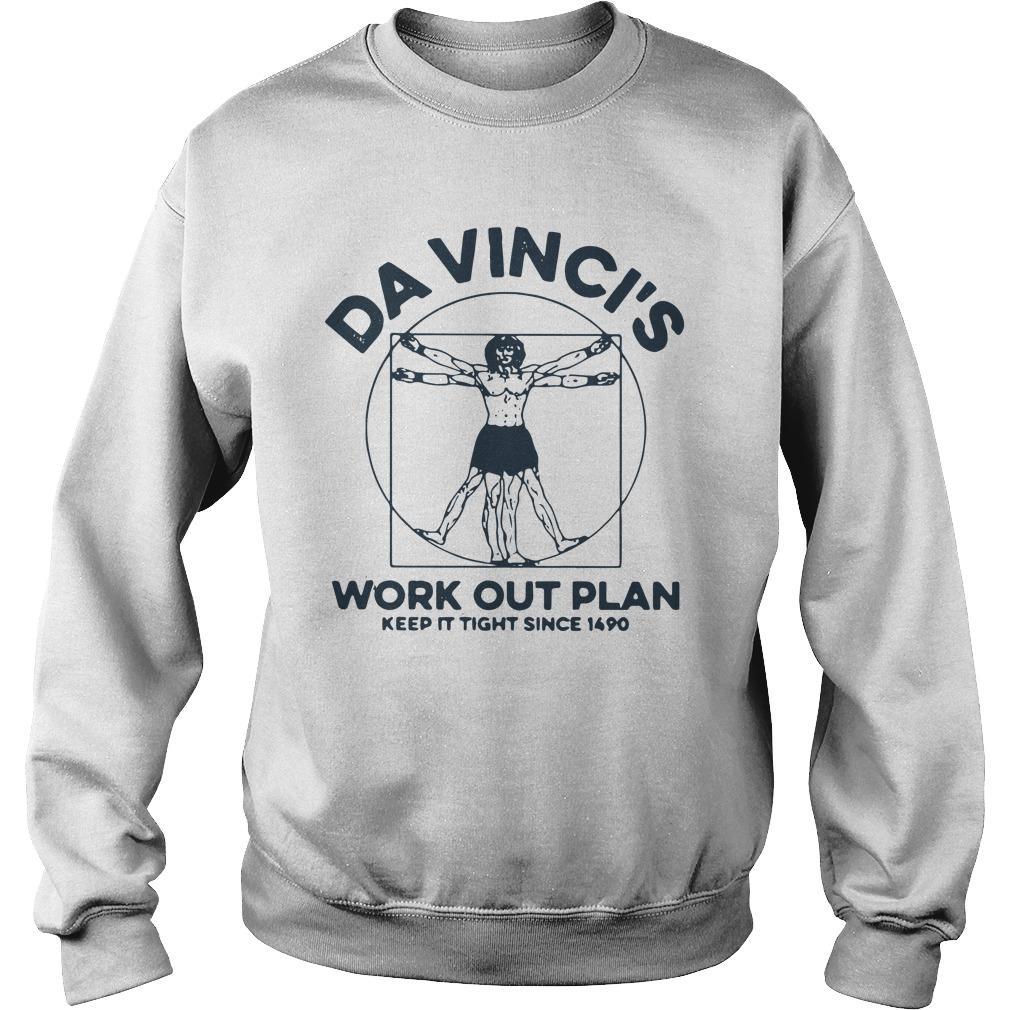 Da Vinci's Work Out Plan Keep It Fight Since 1490 Sweater