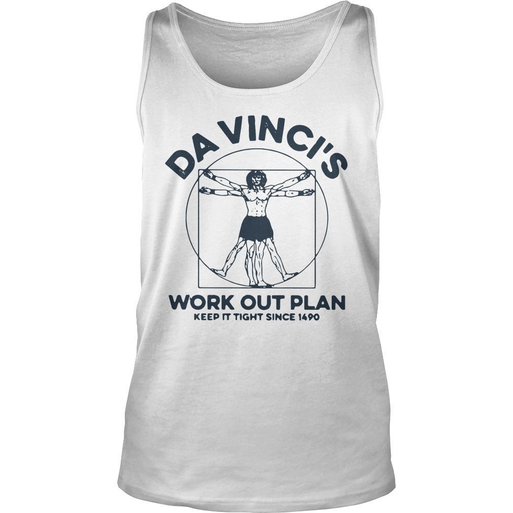 Da Vinci's Work Out Plan Keep It Fight Since 1490 Tank Top