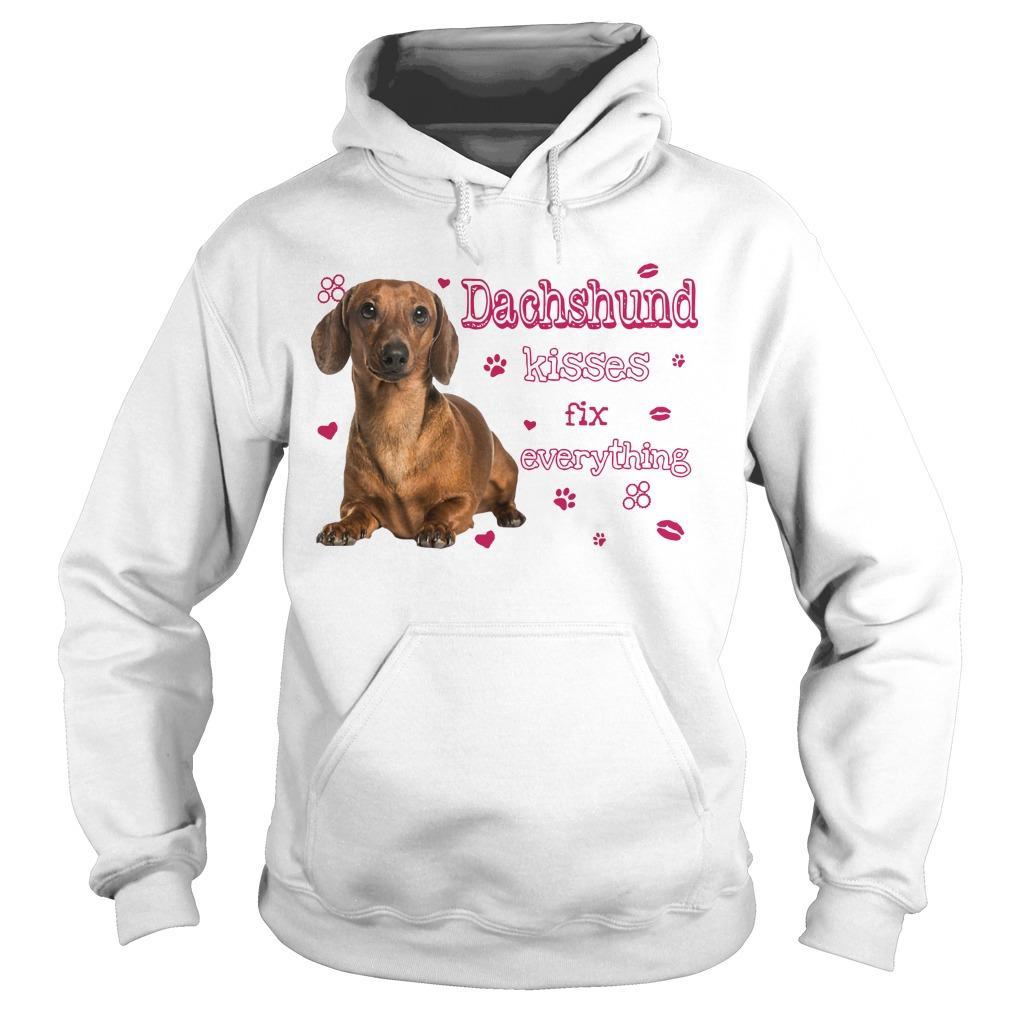 Dachshund Kisses Fix Everything Hoodie