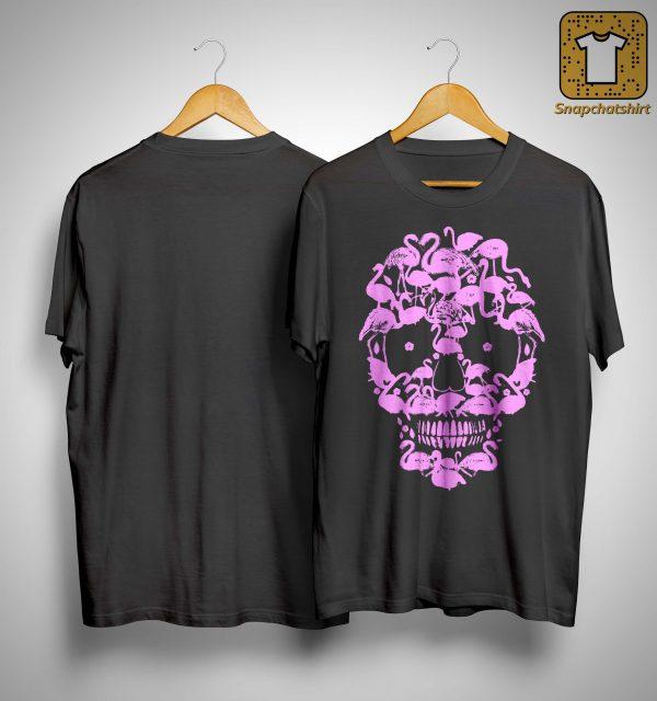 Flamingo Skull Face Shirt