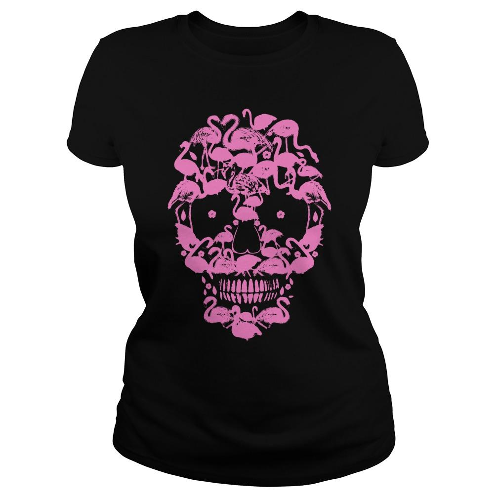 Flamingo Skull Face Tank Top