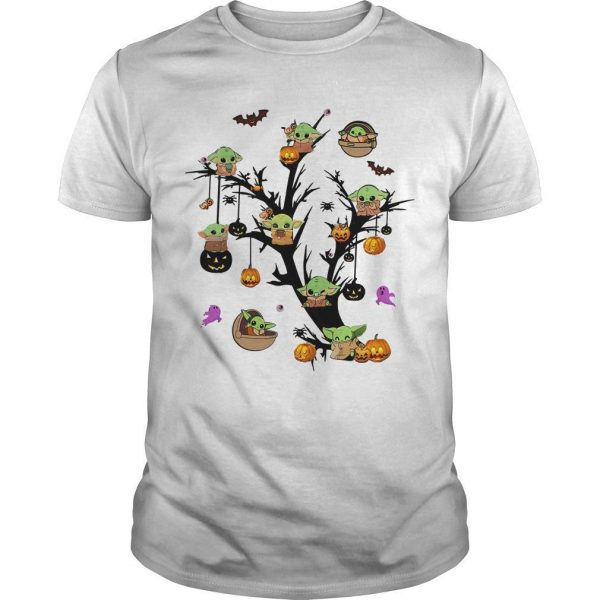 Halloween Baby Yoda Pumpkin Shirt