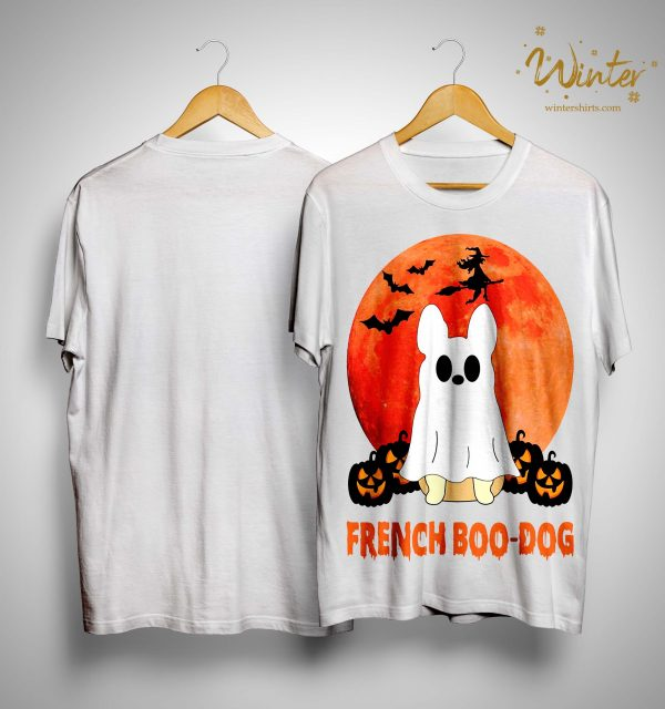 Halloween French Boo Dog Shirt