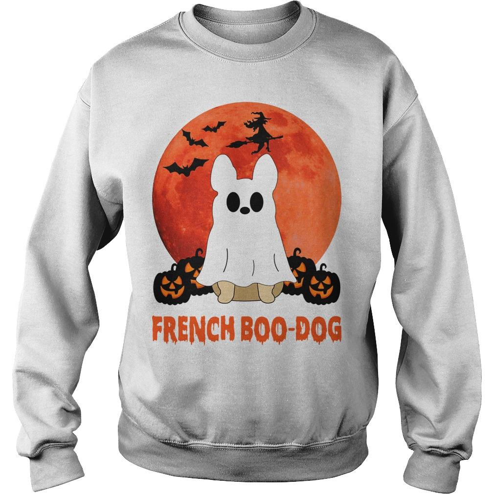 Halloween French Boo Dog Sweater