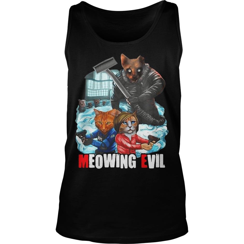 Halloween Meowing Evil Tank Top