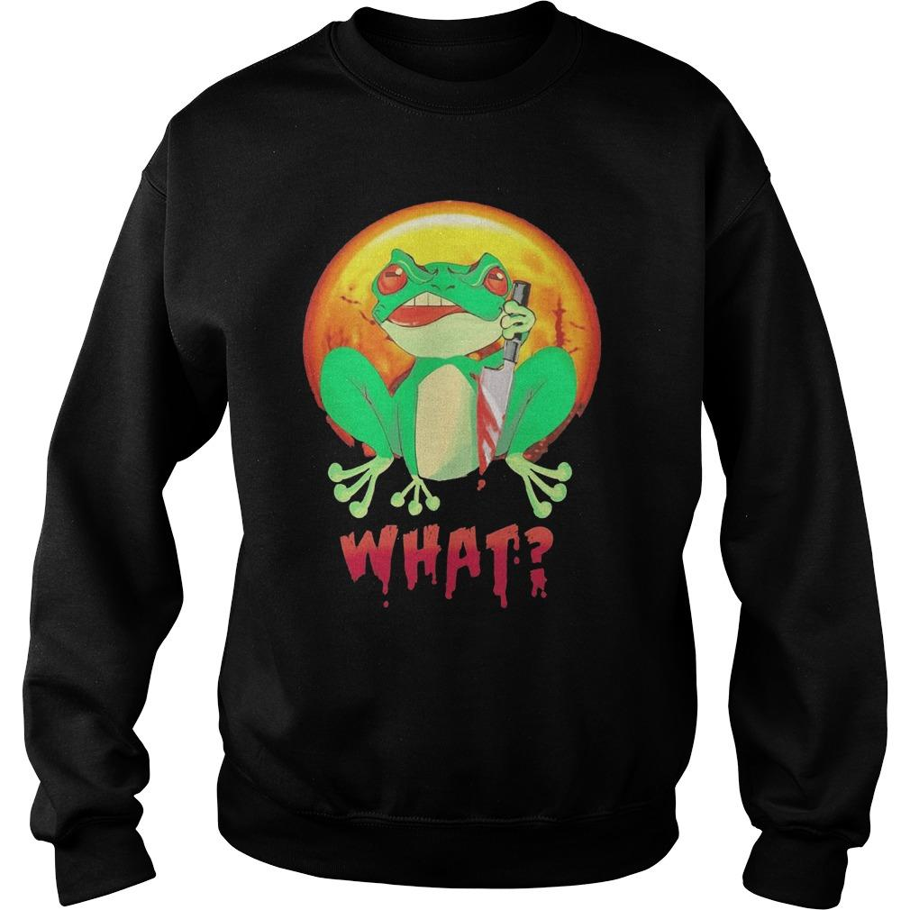 Halloween Michael Myers Frog What Sweater