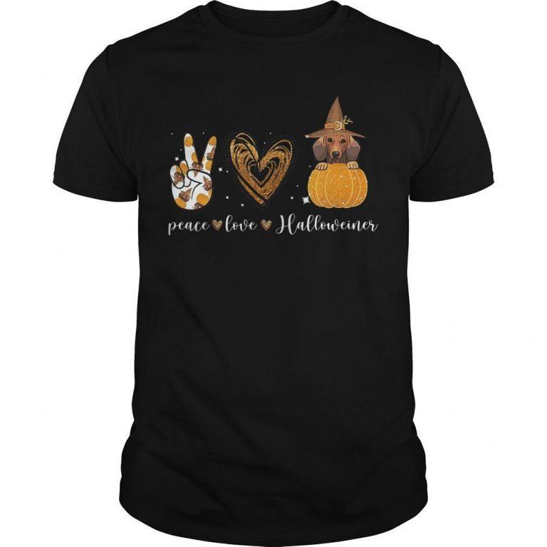 Halloween Peace Love Halloweiner Shirt