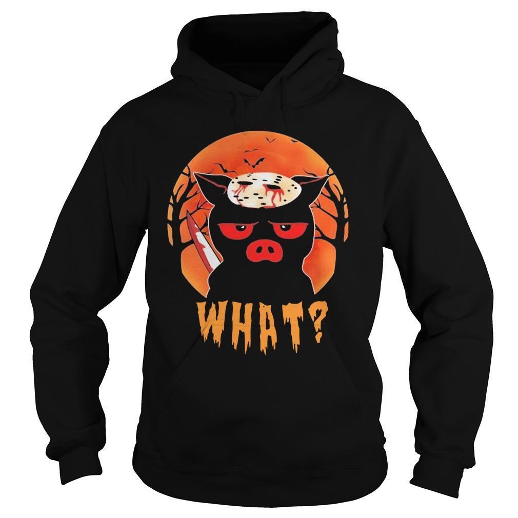 Halloween Pig Jason Voorhees What Hoodie