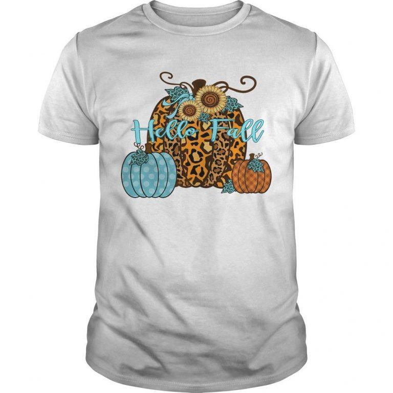 Halloween Pumpkin Hello Fall Shirt