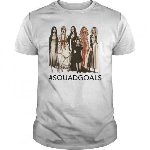 Halloween Samara Annabelle Morticia Squad Goals Shirt